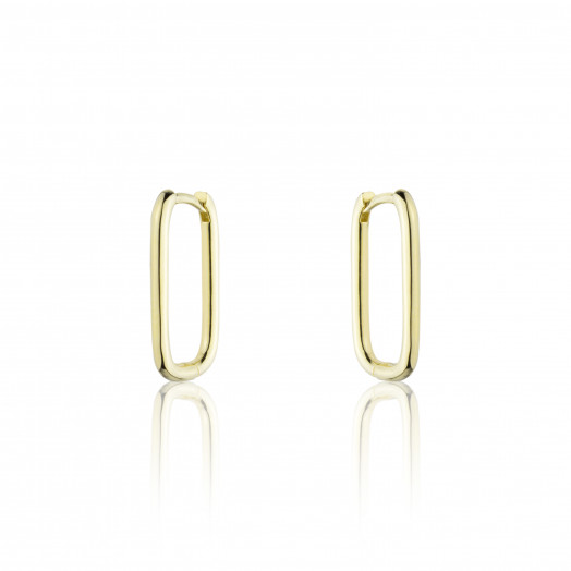 BRINCOS CLIPS OVAL GOLD